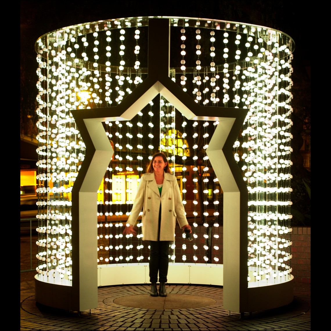 Space Folding light sculpture